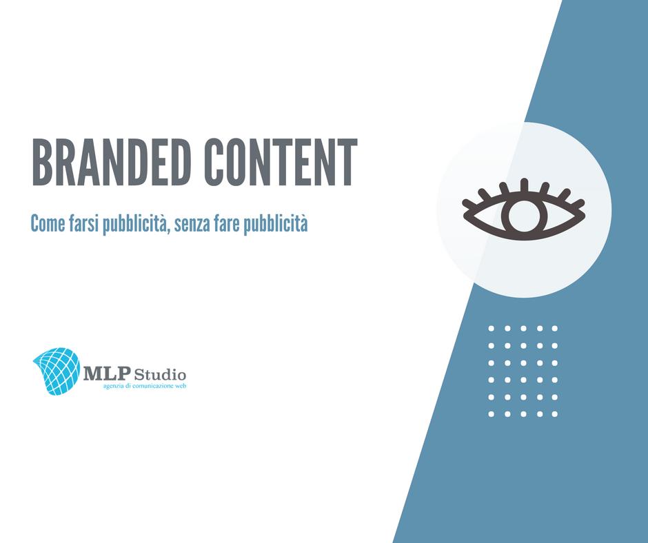 """Immagine di copertina dell'articolo """"Branded Content, come farsi pubblicità senza fare pubblicità"""". Un'icona a forma di occhio descrive l'argomento delle visualizzazioni dei contenuti sui canali social."""