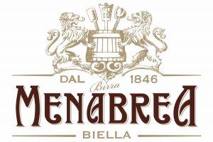 Il logo della birra Menabrea.